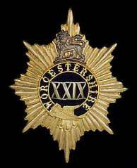 The regimental badge of the 29th Regiment of Foot until 1881