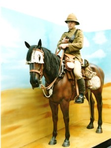 Mounted Worcestershire Yeomanry Trooper at Huj