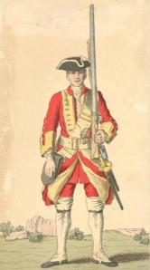 Soldier of 29th Regiment in 1742