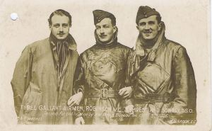 Lieutenant Robinson V.C. with two colleagues; Tempest and Sowrey D.S.O.