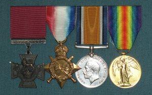 Private F Dancox Medals