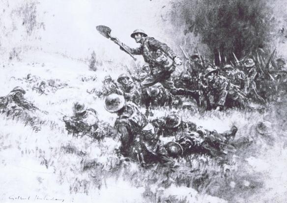 Lt. Bennett wininghis Vc at Transloy Ridge